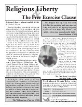 Religious Liberty & The Free Exercise Clause