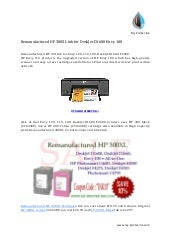 Remanufactured HP 300XL ink for DeskJet D1600 Envy 100 Printers