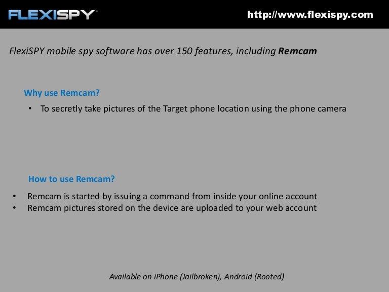 How to remotely control a phone camera to take a picture with FlexiSPY