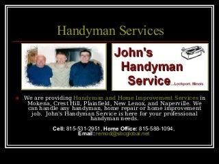 Handyman Services, Home Improvement Naperville, Plainfield