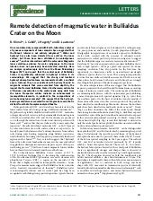 Remote detection of_magmatic_water_in_bullialdus_crater_on_the_moon