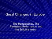 Renaissance, reformation, early exploration, and enlightenment
