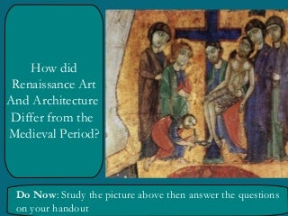 Renaissance vs. medieval art lesson ppt