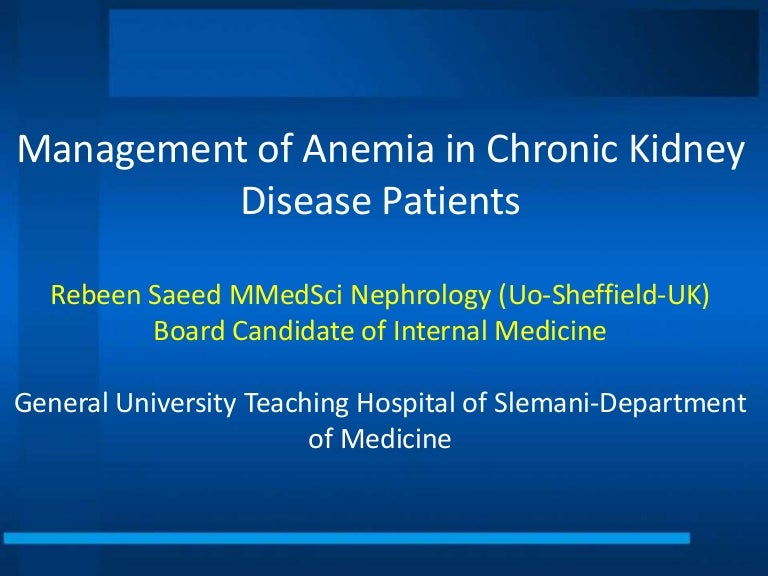 Renal anemia guidelines