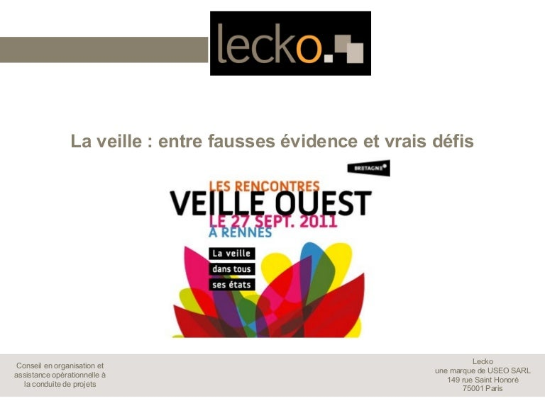 Rencontres Veille Ouest   UrfistInfo