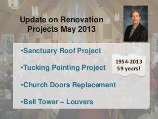 St John Lutheran Redwood Falls, MN - Renovation projects update - april 2013