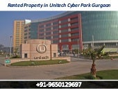 Rented property in unitech cyber park gurgaon || 9650129697