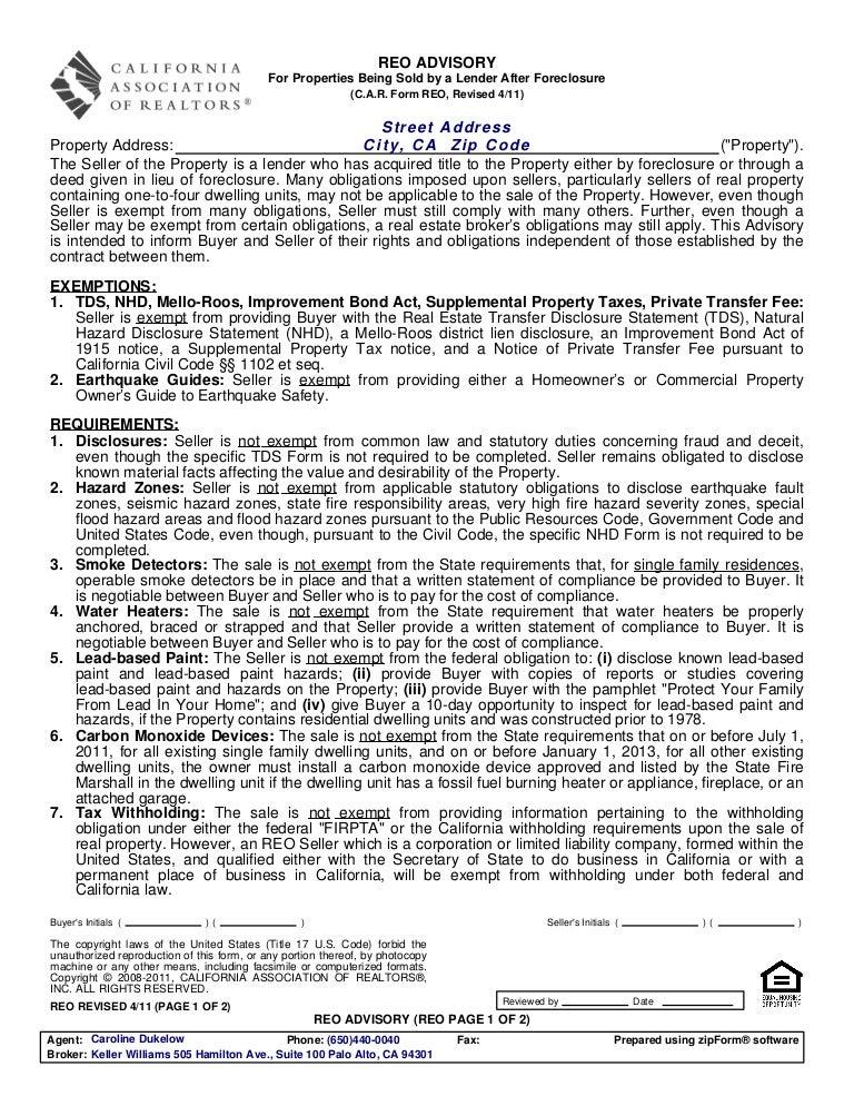 California Association Of Realtors Lead Based Paint Disclosure Form