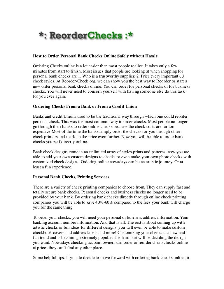 reorder checks.org