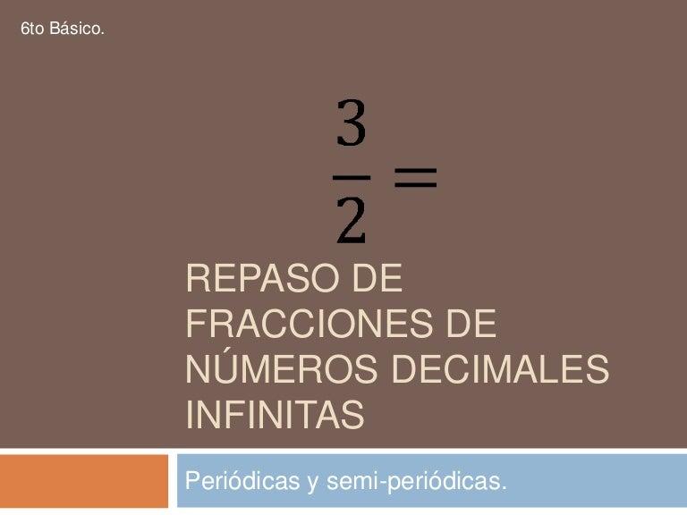 Convertir decimales periodicos a fracciones online dating
