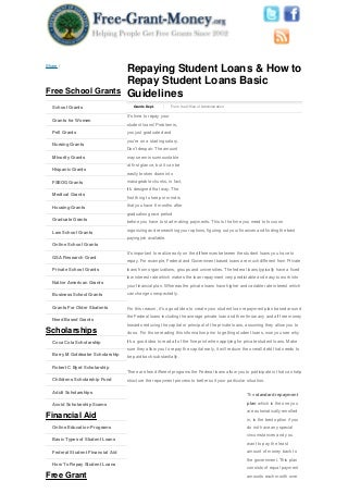 Repaying student loans & how to repay student loans basic guidelines