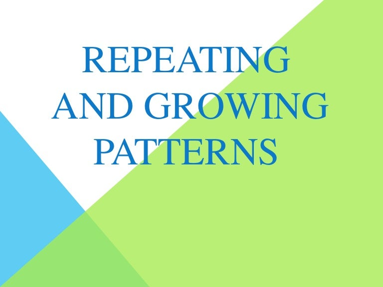 Patterns Worksheets | Dynamically Created Patterns Worksheets