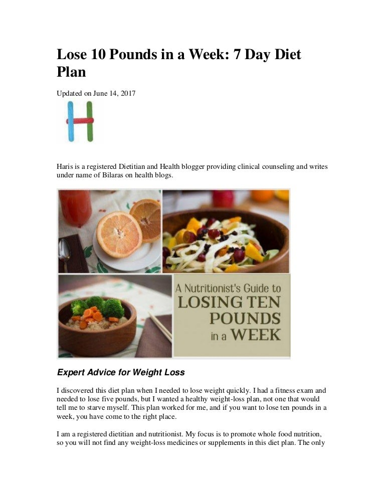 healthy diet plan to lose 10 pounds in a month