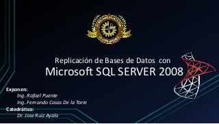 Replicación de Bases de Datos con SQL Server 2008
