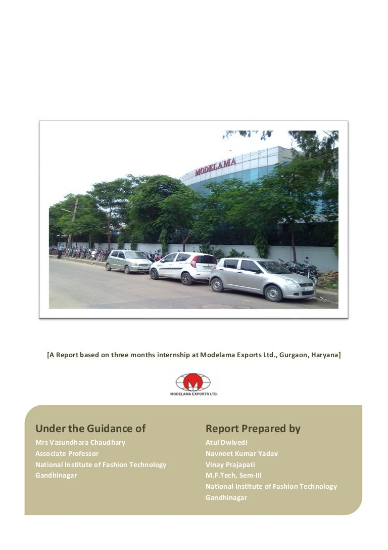 Project report on garment export house
