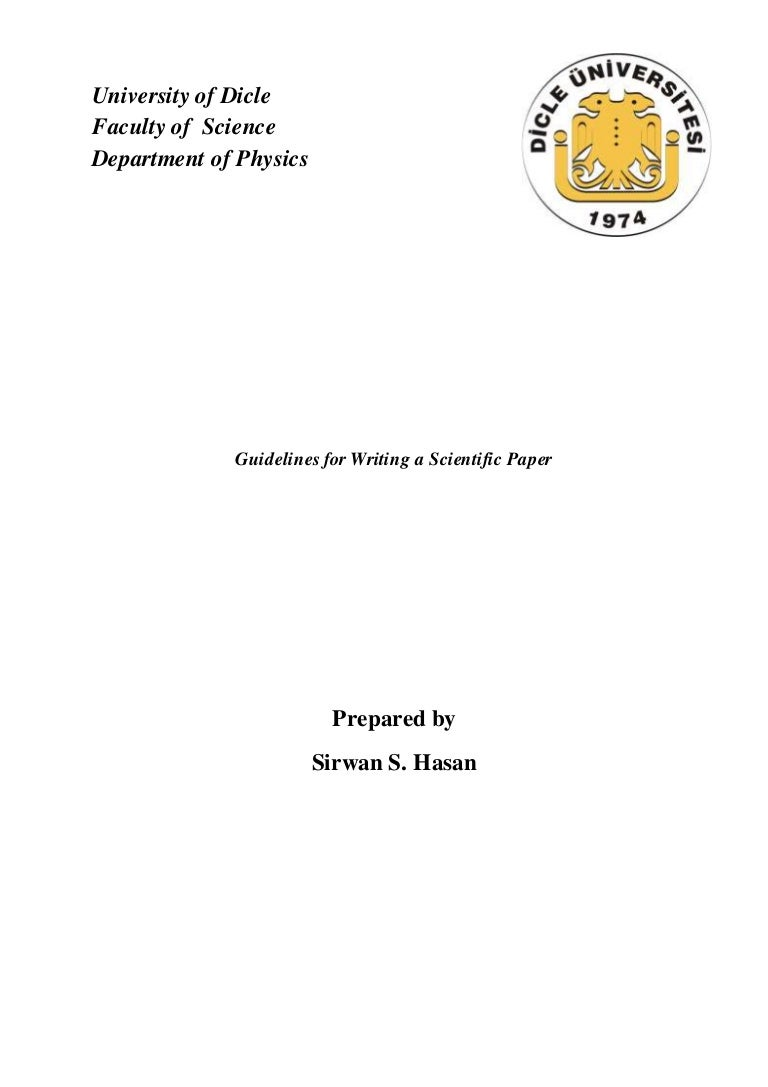 Guidelines for writing scientific papers scientific academic paper writing template page