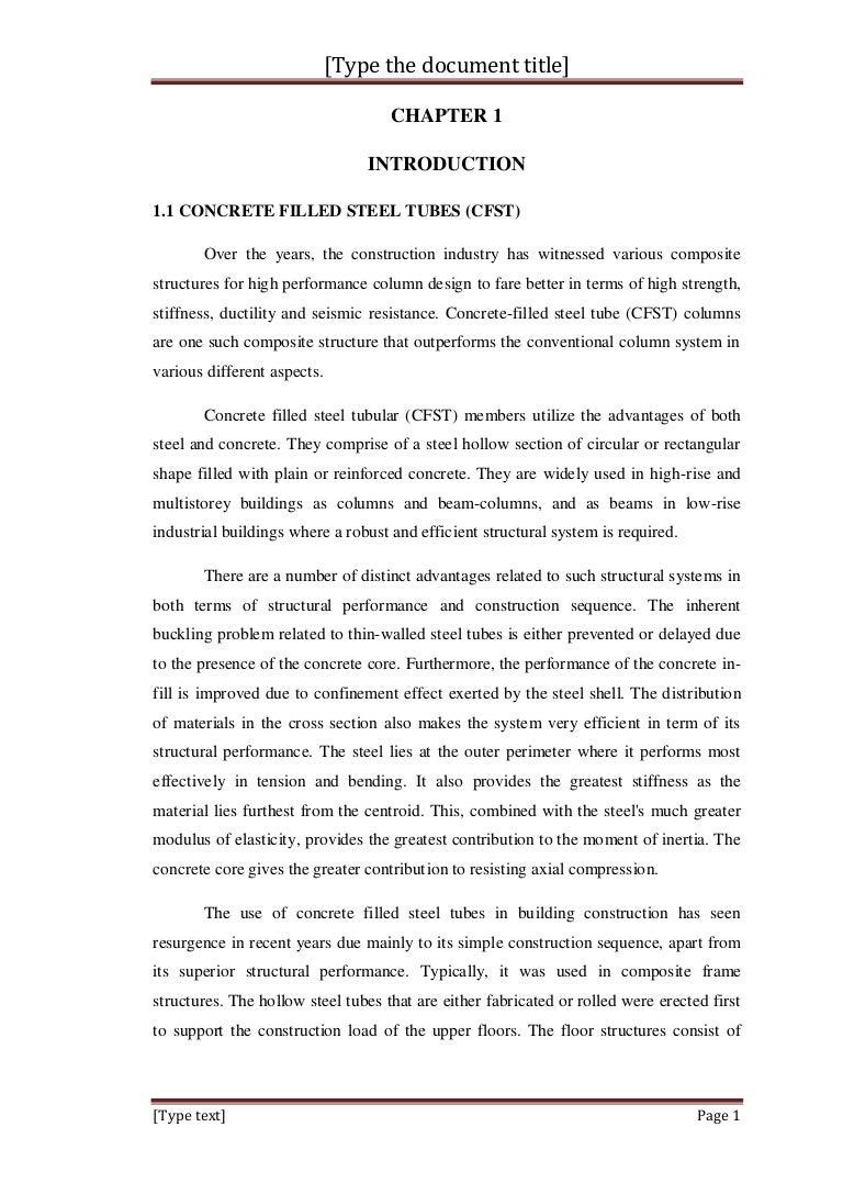 CFST Column Report