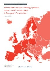 Automated Decision-Making Systems in the COVID-19 Pandemic: A European Perspective (Sept.2020)