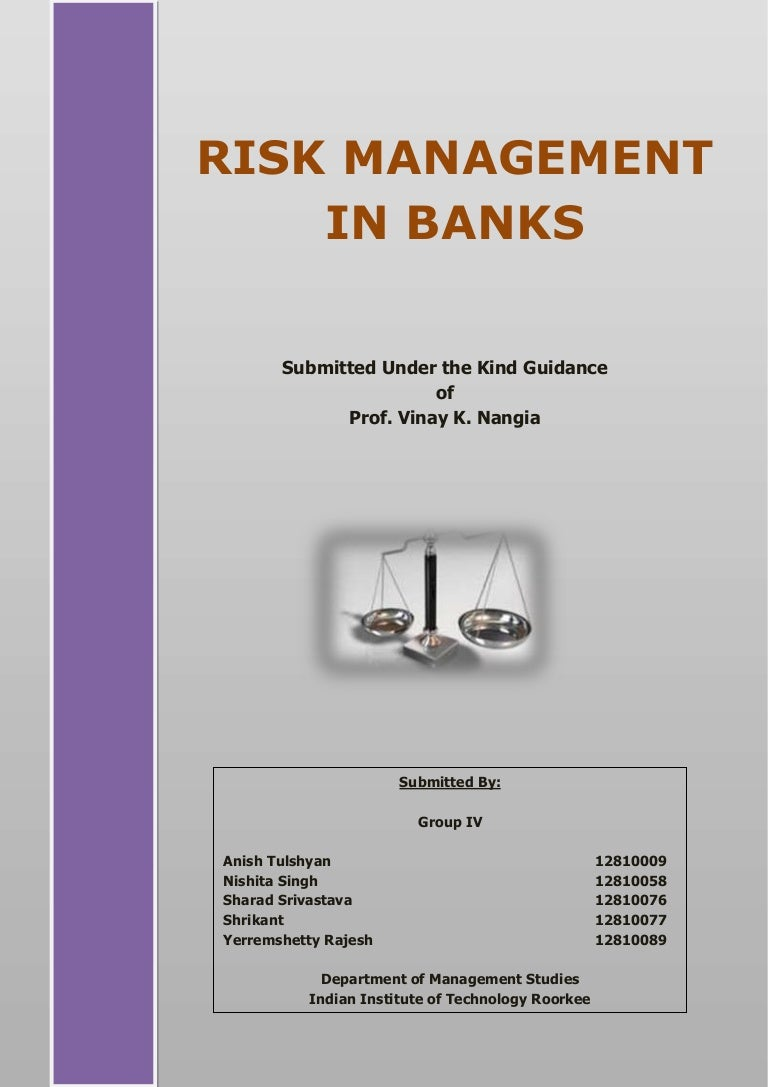 Report - Risk Management in Banks