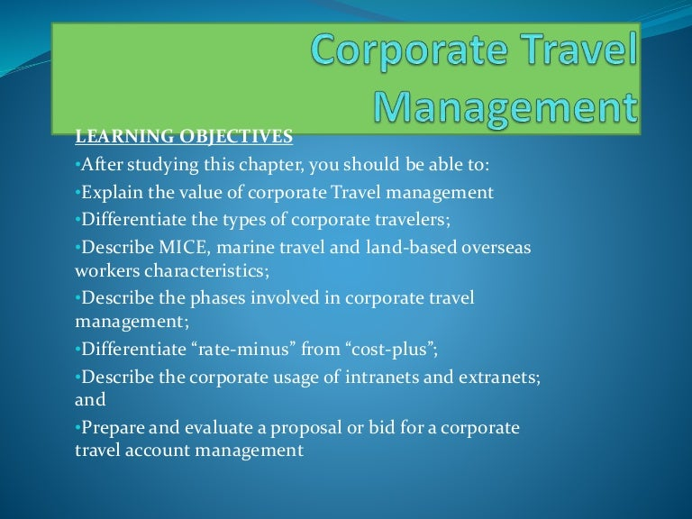 corporate travel expenses