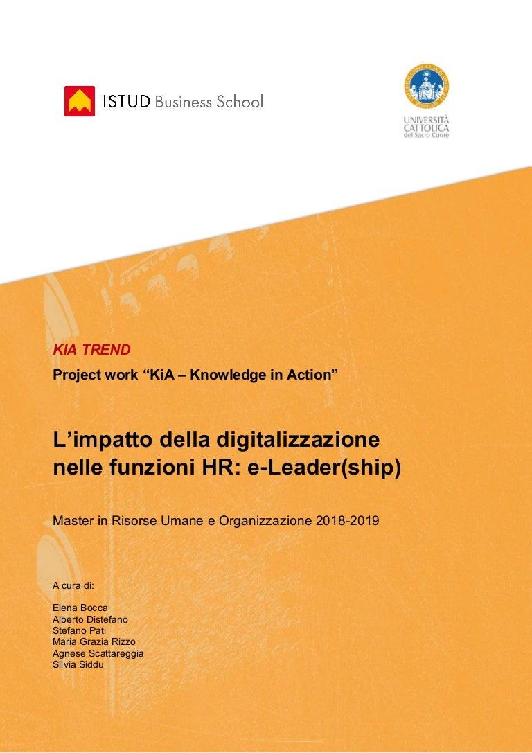 L Impatto Della Digitalizzazione Nelle Funzioni Hr E Leader