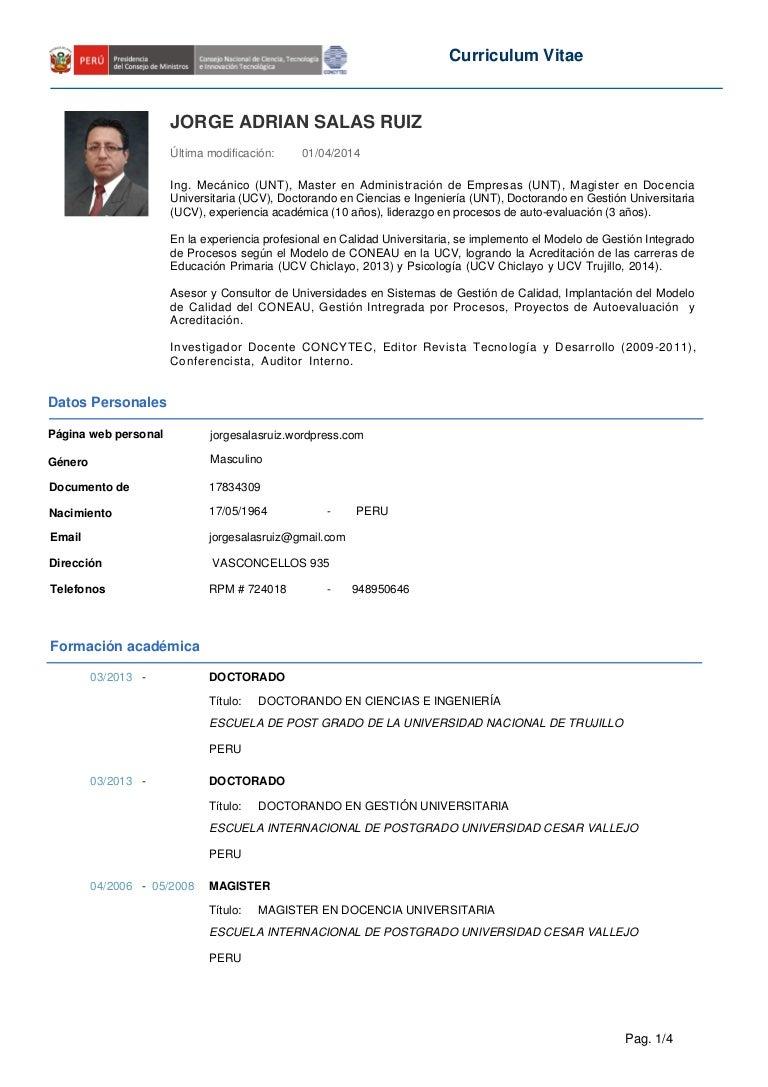 CV Jorge Salas Ruiz