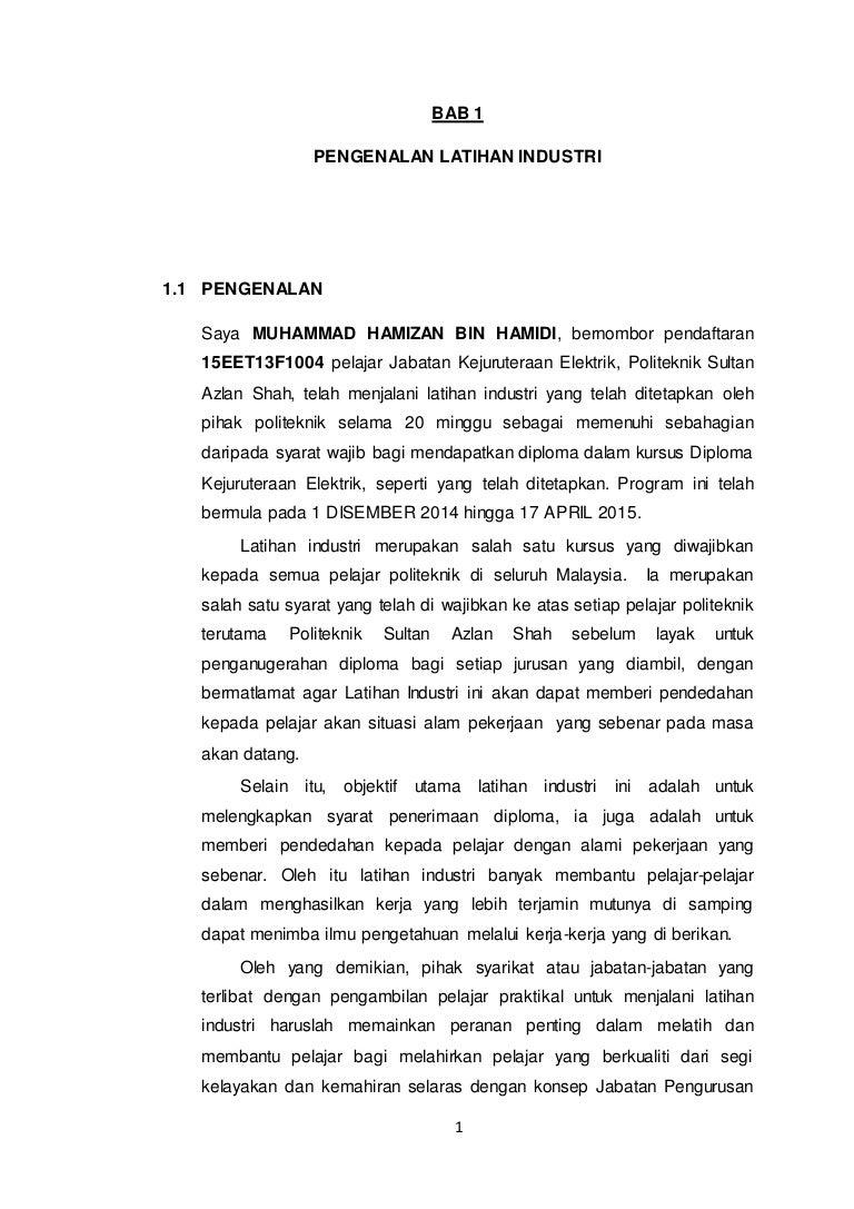 Report Latihan Industri Jke Psas