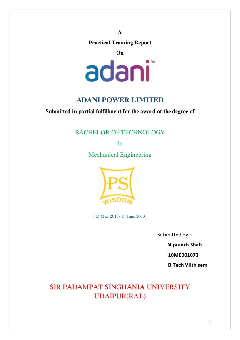 A Project Report On Adani Power Ltd Piping Layout Wikipedia