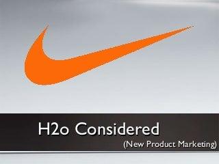 Nike New Product Marketing