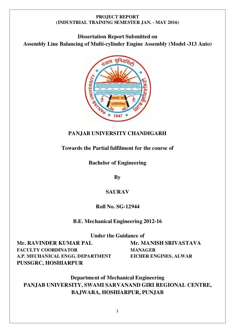 Report submitted on line balancing by saurav panjab university pooptronica Choice Image