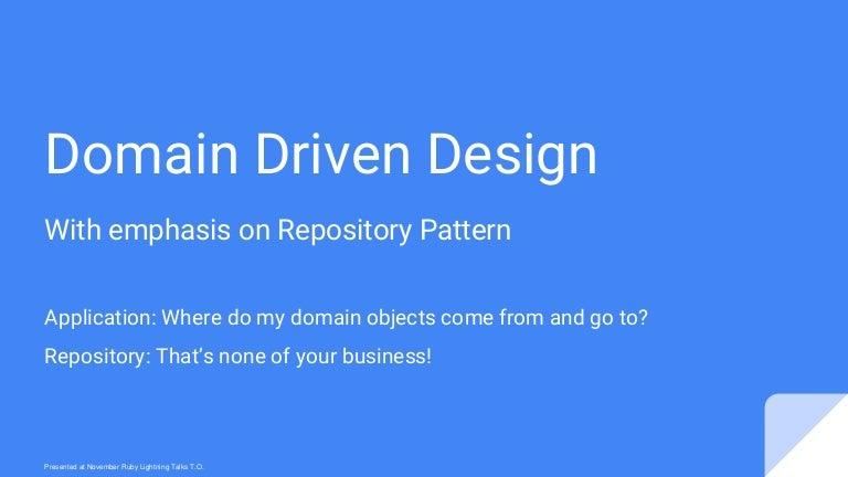 Domain Driven Design in Rails