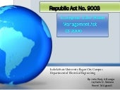 Republic act no. 9003(Ecological Solid Waste Management act of 2000)