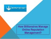 Repusurance | How Billionaires Manage Online Reputation of Their Business?