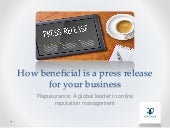 Repusurance | How beneficial is a press release for your business?