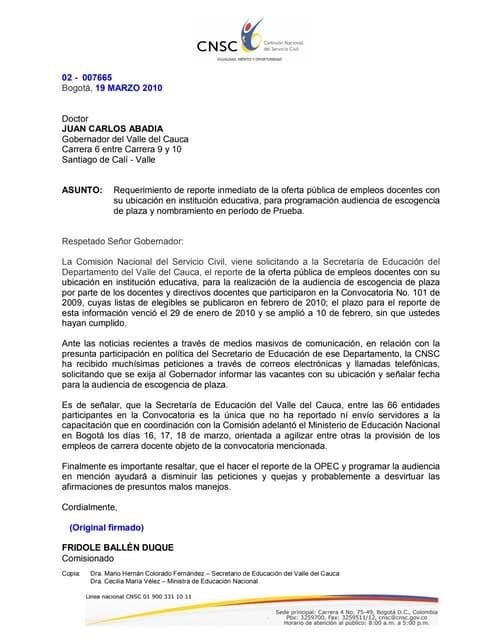 Requerimiento Opec Vallde Cauca