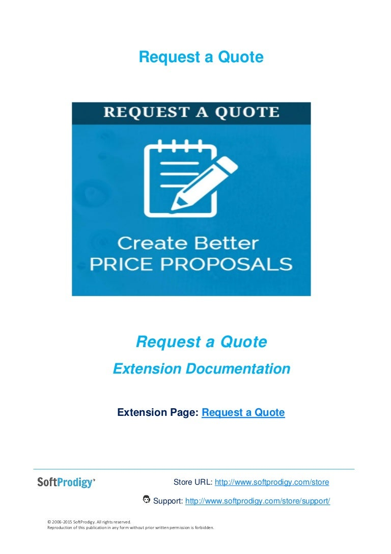 Request For Quote Request A Quote