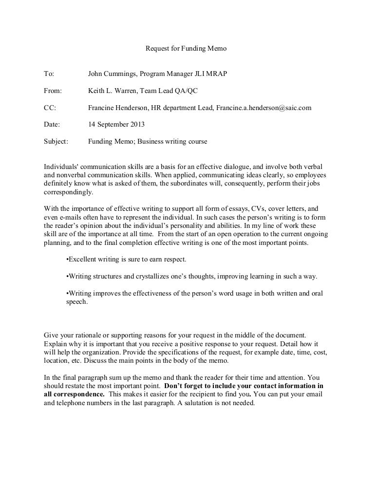 letter requesting funding for school