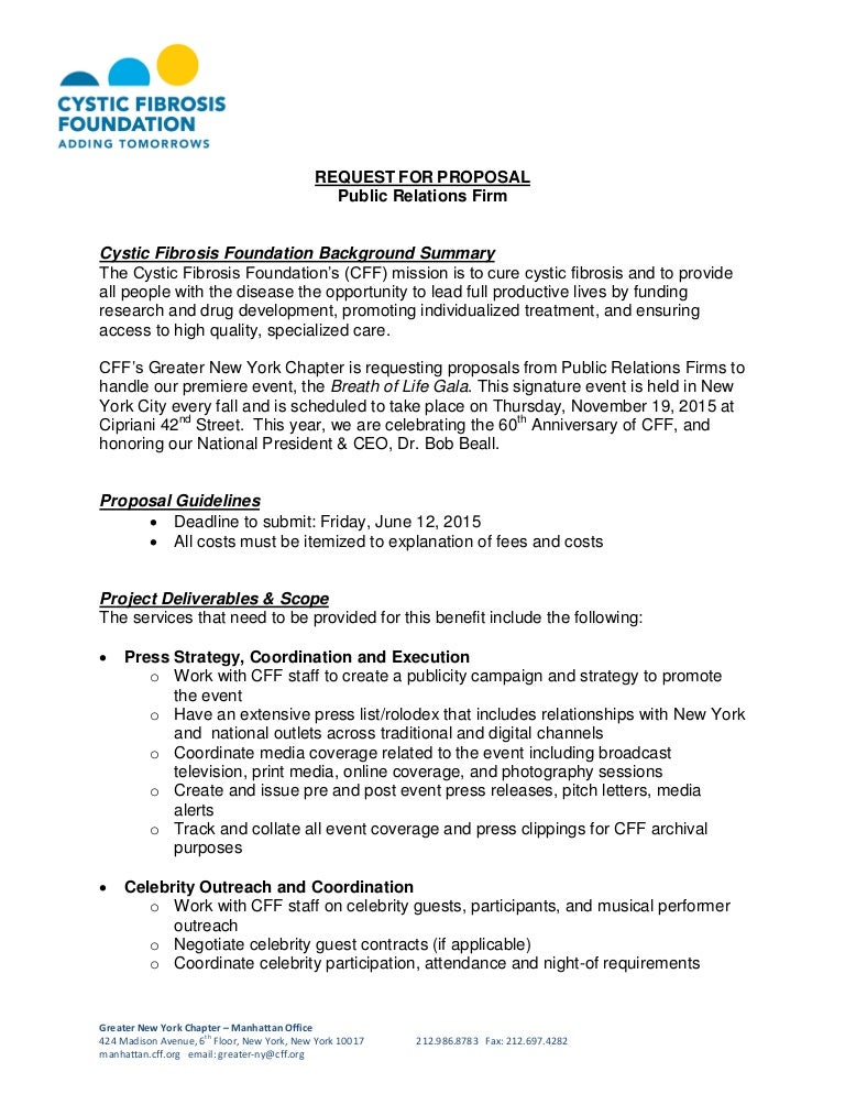 cystic fibrosis foundation - request for proposal