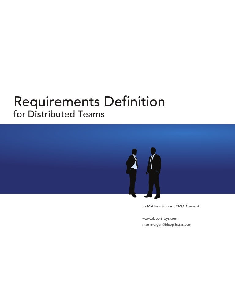 Requirements Definition For Distributed Teams (White Paper)