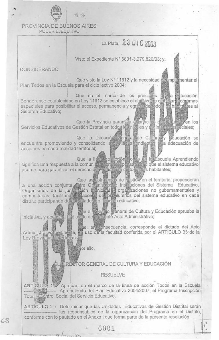 Res 6001 03 programa de inscripción total y control social de la matr…