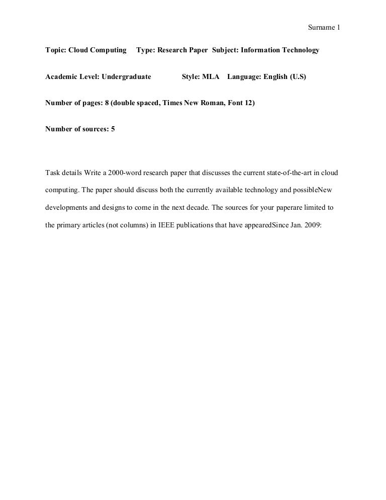 research paper mla sample