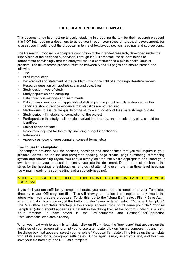 Research Proposal Template Research proposal template  Phpapp Thumbnail  Research Proposal Template