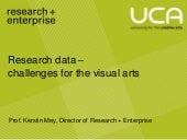 Research data-visual arts-presentation