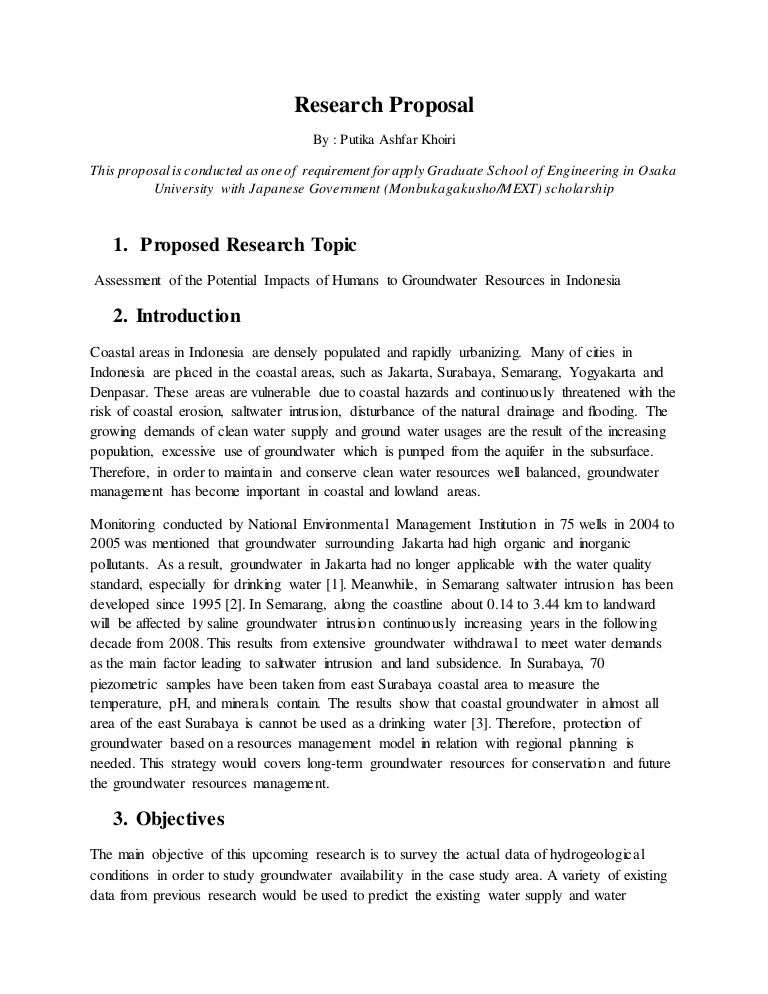 Research Proposal-Assessment Of The Potential Impacts Of Humans To Gr…