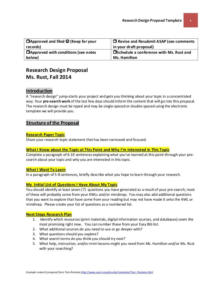 Research Design Proposal Template October 22 2014 (Final Version) Rus…