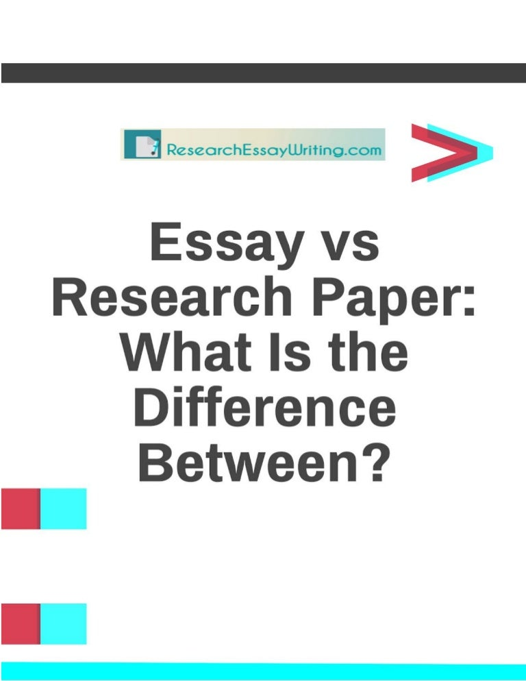 Difference Between Personal Essay And Research Papers