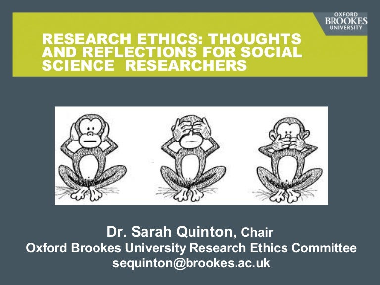 ethics in social research pdf