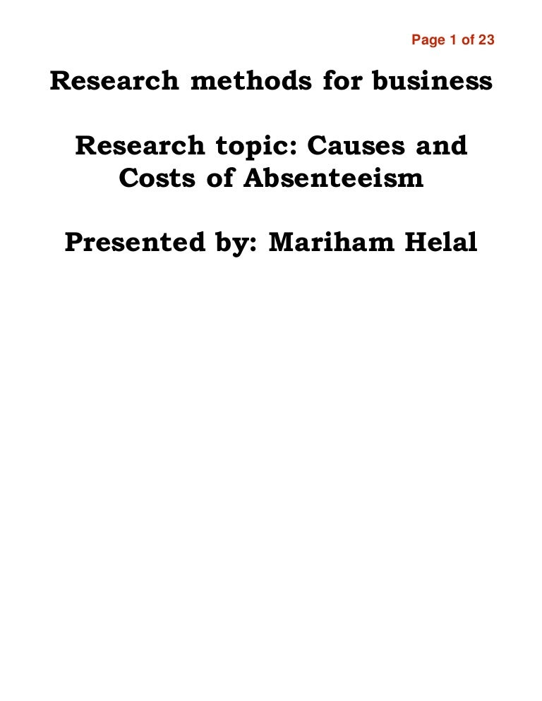 thesis on teacher absenteeism When a teacher's absenteeism becomes excessive, a principal must consider its impact on students my biggest concern was the impact of the teacher's absenteeism on his students i also was concerned that if i did nothing, other teachers might begin to copy his pattern of absenteeism.
