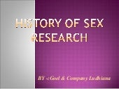 Research history of sex