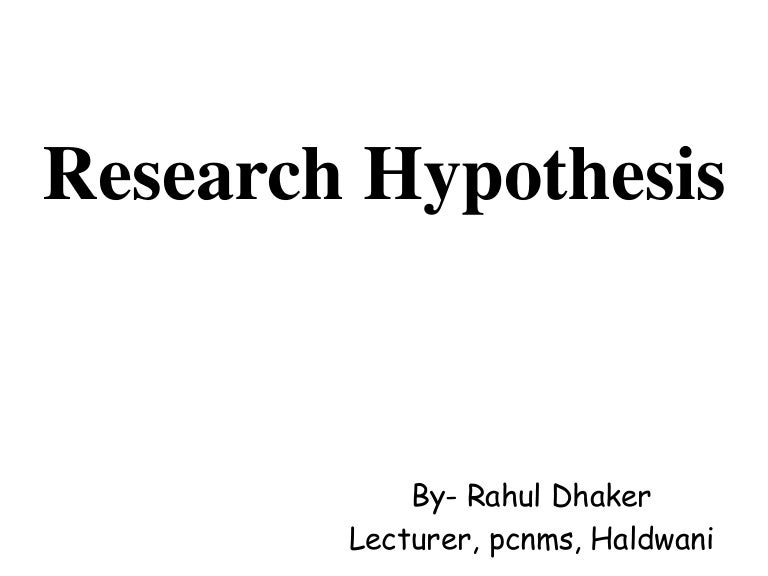 example of hypothesis in research proposal